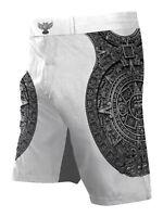 Raven Fightwear Men's Aztec Ranked BJJ MMA Shorts White