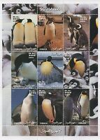 PENGUIN AQUATIC BIRD ANTARTIC ANIMAL KINGDOM SOMALIA 2002 MNH STAMP SHEETLET