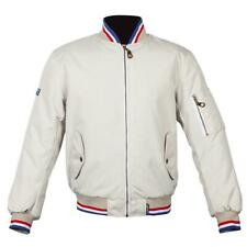 Spada Air Force 1 Royale Waterproof Motorcycle Scooter Bomber Jacket Ivory White