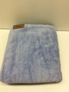"Graccioza Long Double Loop Bath Towels Pale Blue 60"" x 38"""