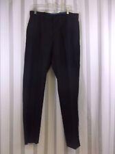 Men's Axist Ultra Series No Iron Pants 33W 32L Straight Leg Flat Front Black New