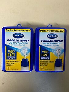 Lot of 2 DR SCHOLLS Freeze Away Wart Remover 7 Applications EXP 07/2021