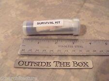 Emergency/Survival POCKET Survival Kit:  Fire, Light, Signal, Navigation & MORE