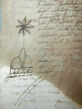 Antico documento manoscritto 1649 donazione Marchese Olgiari 14 pagine