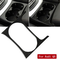 For Audi Q5 2010-2018 & SQ5 2013-2017 Carbon Fiber Central Cup Holder Cover Trim