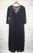 TORRID Women's Black Lace Button Maxi Dress 1X