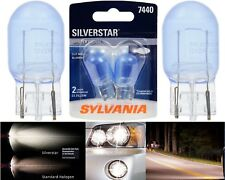 Sylvania Silverstar 7440 25W Two Bulbs Stop Brake Tail Light Upgrade Replacement
