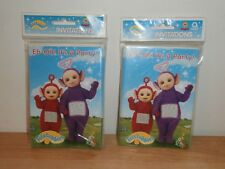 Set of Two 1998 Teletubbies Birthday Party Invitations Pack of 8 Brand New