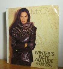 """Mccall's Sew Sewing Pattern Store Counter Catalog Winter 2000 Size 12.25"""" 13.5"""""""