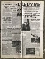 N6 La Une Du Journal L'œuvre 1 Er Février 1943