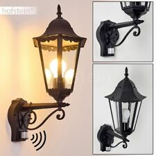klassische Bewegungsmelder Terrasse Garten Lampe schwarz Hof Außen Wand Leuchten