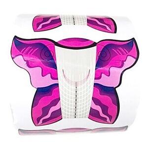 500 klebe Nagel Schablonen Schmetterling für Stiletto , Ballerina , Mandelform