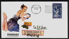 Vintage Britains Toy Soldiers & Pin Up Girl Featured on Collector Envelope A172