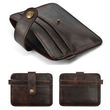 Retro Vintage Mens Leather Money Clip Wallet ID Credit Card Holder Case Bag New