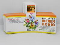 250g Etiketten Honiggläser nassklebend Honig-Etikett gelb neutral 100 Stück