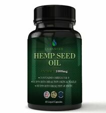 Ultimate Hemp Seed Oil Caps Pills Support Joint Skin Nails Health Free Shipping