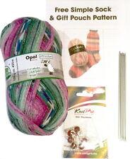Opal 4ply filato Calzini A Maglia Kit-Lana, DPN'S, Stitch Markers & modello 7955