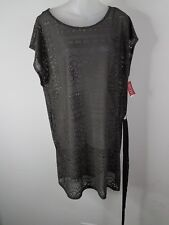 Merona Swim Cover Up Gray Top Dress Poolside NWT- Large