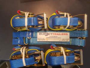 TYRE STRAPS LINK STRAPS & 4 X 2500KG RATCHET STRAPS $125 +  FREIGHT