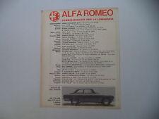 advertising Pubblicità 1967 ALFA ROMEO GIULIA GT 1300 JUNIOR