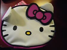 Hello Kitty Face Insulated Lunch Tote Soft Sided Zipper Bag BNWT