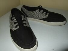 Reef MENS 8 CHECKERED Black Canvas Sidewalk Surfer ShoeS sneakers deck hand