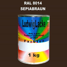 Marrone Seppia Ral 8014 Opaco 1 KG Acrilico Vernice Per Metallo Legno Vetro Di
