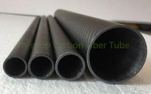 2pcs 30mm OD X 26mm ID X 500MM Carbon fiber wing tube/Carbon Tubing/pipe 30*26