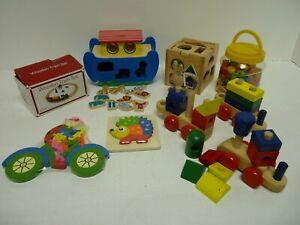 Job Lot Bundle Wooden Toddler Toys Melissa Doug Hamleys Robert Dyas Puzzle F23
