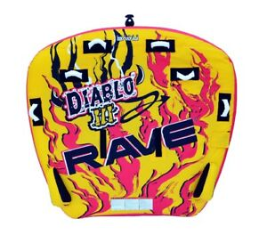 NEW Rave Sports 02641 Diablo III Inflatable Three Rider Towable Water Tube