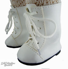 """Victorian Era White 1800 Boots Shoes for 18"""" American Girl Samantha Doll Clothes"""