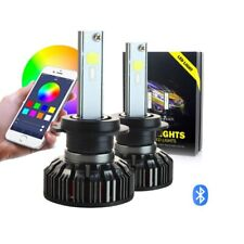 RGB Super Bright HB3 9005 LED Headlights App Controlled Kit