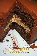 "☆Chocolate Fudge Cake with Peanut Butter Crème Filling ""RECIPE""☆Soooo Good!!!☆"