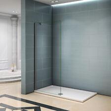 Paroi de douche 80x200cm 8mm verre trempé anticalcaire avec Barre de fixation I