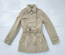 Burberry white cashmere coat women s size Nova Check