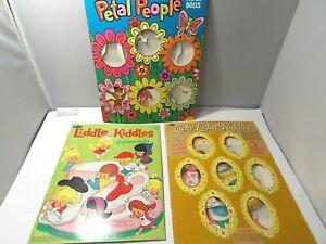 Lot of  Liddle Kiddles, Lucky Locket Kiddles, Petal People Paper Dolls