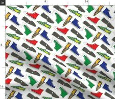 Shoes Colorful Tennis Shoe Feet Fashion Sneakers Spoonflower Fabric by the Yard