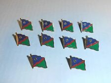 Wholesale Lot of 10 Namibia Flag Lapel Pin, Brass Finish, BRAND NEW
