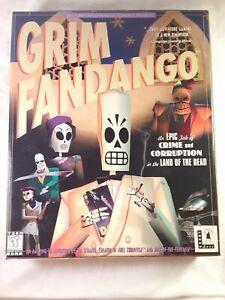 PC Grim Fandango Classic Lucasarts 1998 Adventure Game In Original Big Box