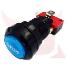 Azul Y Negro Auto Motor de arranque de inicio de prensa de Empuje Botón LED iluminada momentáneo