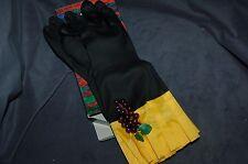 rubber gloves black novelty evening gloves