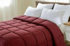 Solid Burgundy Down Alternative Comforter 200 GSM All Seasons Cal King Size