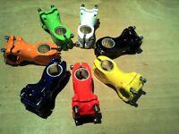 """FAHRRAD VORBAU 25,4/60mm 1""""+1 1/8"""" schwarz, weiss, orange, rot, grün, gelb"""
