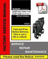 Suzuki Outboard Motor Repair Manual DF90,DF100,DF115,DF140  K1-K9 2001-2009 PDF
