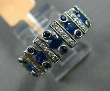 Engagement Tension Bezel Set Half Eternity Ring 14K White Gold 2.85 Ct Sapphire