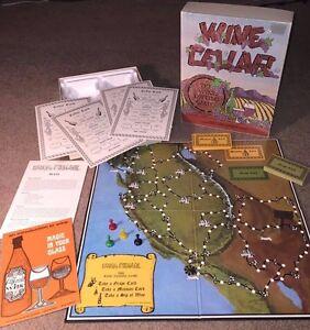 Very Good Condition 45 Yr Old 1971 WINE CELLAR BOARD GAME FUN ! Dynamic Design