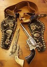 Vtg., Ric-O-Shay 45, Gene Autry 44 Cap Guns & Roy Rogers Double Cap Gun Holster