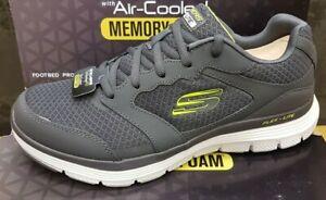 Skechers Men,s Air Cooled Memory Foam Flex Advantage Walking Fitness Trainers