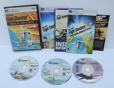 Microsoft Flight Simulator X: Gold Edition (PC: Windows, 2008) Complete