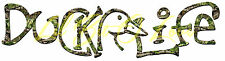 Camouflage Camo Duck Life Water Fowl Vinyl Decal Sticker Duck Hunting Hunt AUTO
